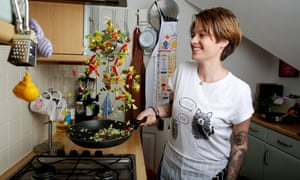 Jack Monroe at home in 2013.