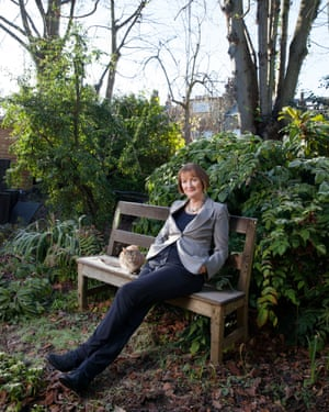 Labour Party MP Harriet Harman at home in Herne Hill, London.