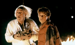 Lloyd with Michael J Fox in Back to the Future, 1985.
