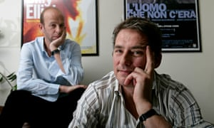 Working Title's Eric Fellner (L) and Tim Bevan.
