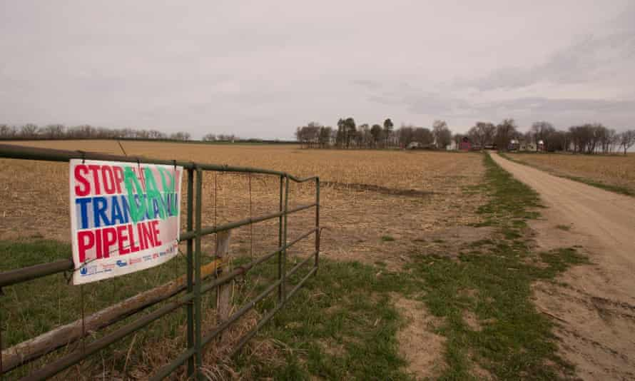 The entrance to Art and Helen Tanderup's farm where the Keystone XL is set to cross.