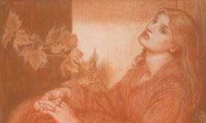 Ricorditi di me che son la Pia, by RossettiRicorditi di me che son la Pia (from Dante's 'Purgatorio'). Rossetti, Dante Gabriel (British, 1828-1882). Red and black chalk on paper, 1868. Sir Ivor and Lady Batchelor Bequest.