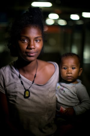 Katiuska (19) with her six-month-old child Neucari