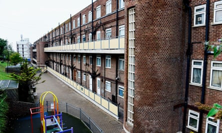 block of deck access flats in Brighton