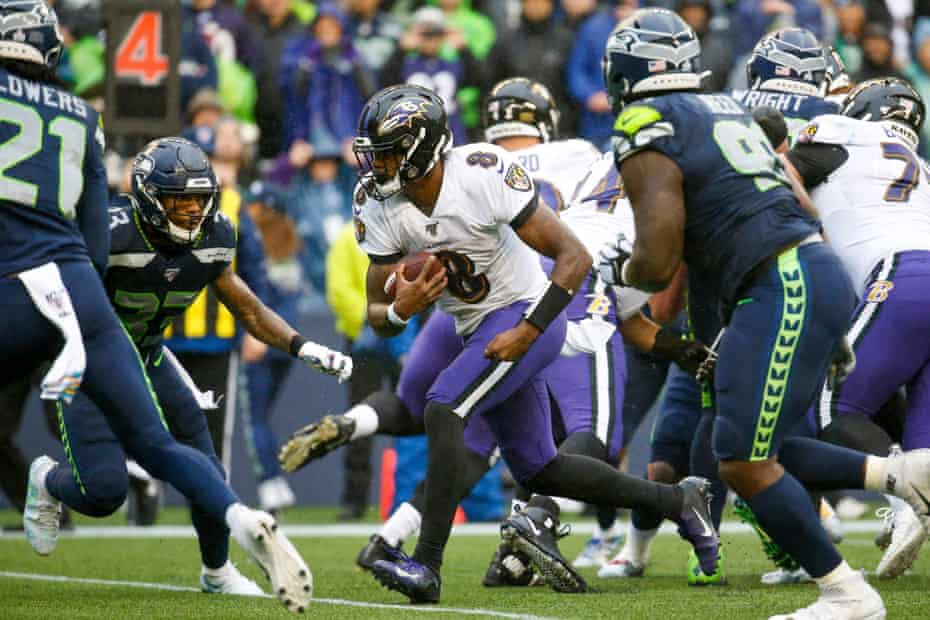 Lamar Jackson hurt the Seattle Seahawks on the ground on Sunday