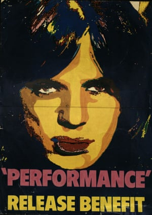 Poster for the London premiere of Performance.
