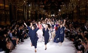 Stella McCartney models during Fashion Week in Paris, France