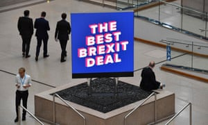 A sign that reads The Best Brexit Deal at the Conservative party conference 2018