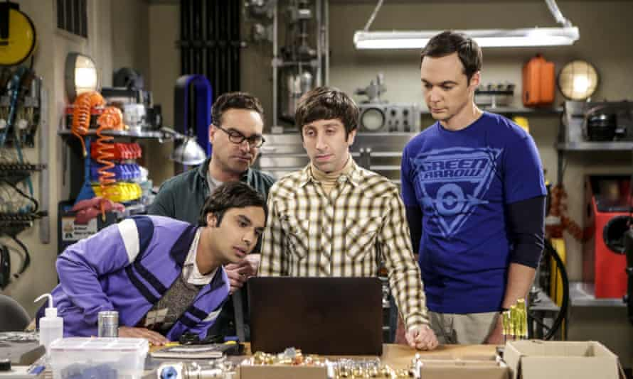 The four nerds in The Big Bang Theory, an American TV sitcom.