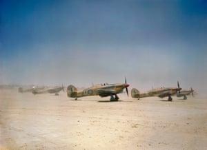 Hurricane Mk IIDs in Gabes, Tunisia, in April 1943