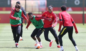 Manchester United in full-contact training.
