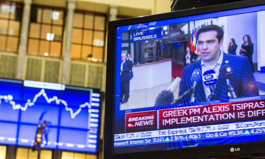 The Greek prime minister Alexis Tsipras