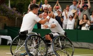 Alfie Hewett (right) and Gordon Reid (left) are Wimbledon champions.