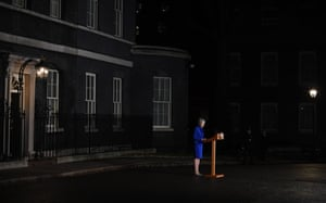 May makes a statement outside 10 Downing Street