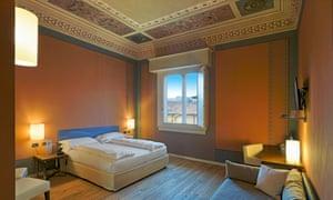 I Portici hotel bedroom, Bologna, Italy