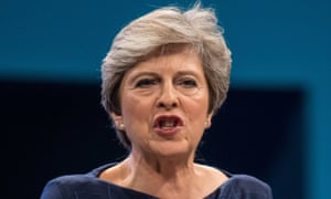 Theresa May at the Conservative party conference.