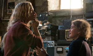 Emily Blunt, left, and Millicent Simmonds in A Quiet Place