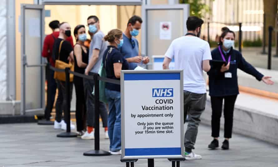 A Covid-19 vaccination centre in London.