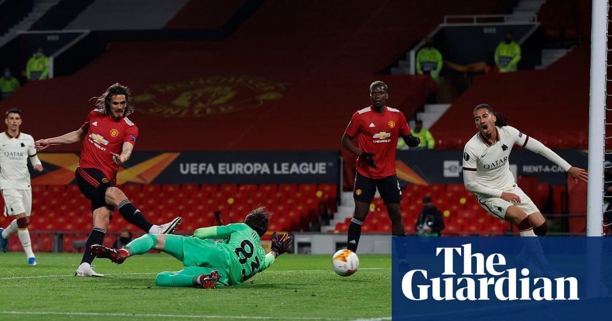 Edinson Cavani and Bruno Fernandes help Manchester United hit Roma for six