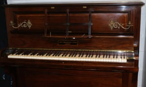 The hoard of sovereigns was concealed in this Broadwood & Sons piano.