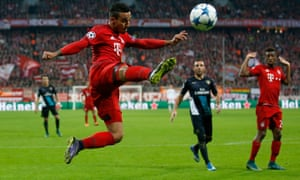 Thiago Alcântara was praised by Pep Guardiola but also told that he needs to keep hold of the ball better.