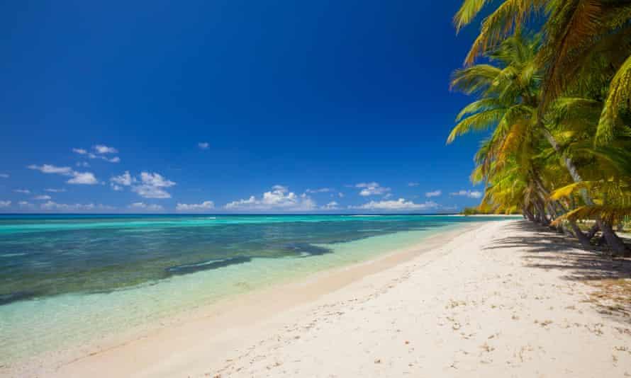 Lagoon beach, Mustique.