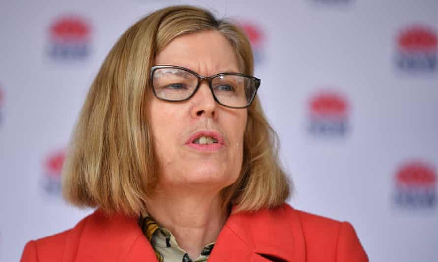 NSW chief health officer Kerry Chant speaks to the media during a press conference in Sydney on Sunday.