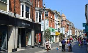 Victoria Street in Grimsby, Lincolnshire.