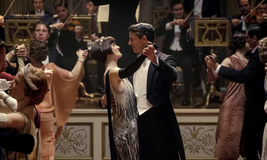 And the band played on… Michelle Dockery as Lady Mary Talbot and Matthew Goode as Henry Talbot in a scene from Downton Abbey.