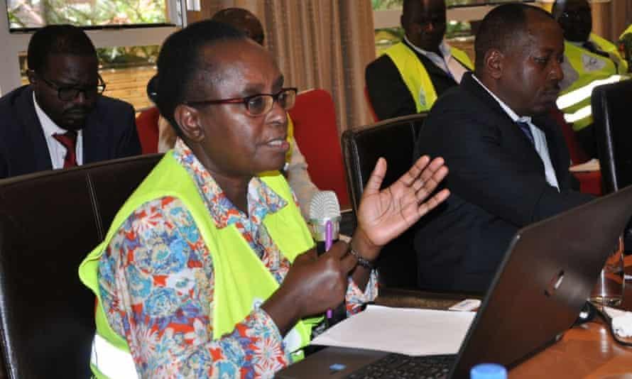 Dr Tatu Kamau is seen at a meeting in Nairobi on the eradication of guinea worm