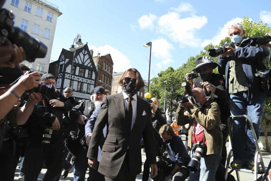 Johnny Depp outside the Royal Courts of Justice