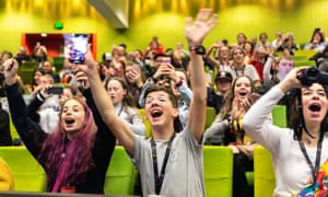 The crowd at an event at VidCon Melbourne last year