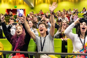Punters at VidCon in Melbourne, 2018