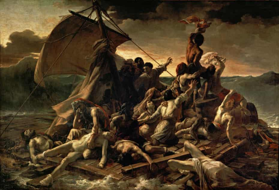 Shipwrecked cannibals … The Raft of the Medusa by Géricault, commenced just as Frankenstein was published.