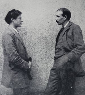 John Maynard Keynes, right, with Duncan Grant, painter and member of the Bloomsbury group, 1926