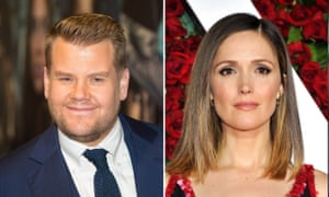 James Corden will voice the main character in Peter Rabbit, while Byrne will play a live action role.