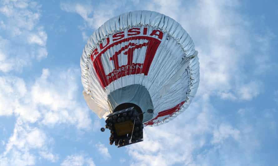 Fedor Konyukhov in his hot air balloon