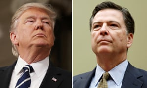 U.S. President Donald Trump and and FBI Director James Comey in Washington