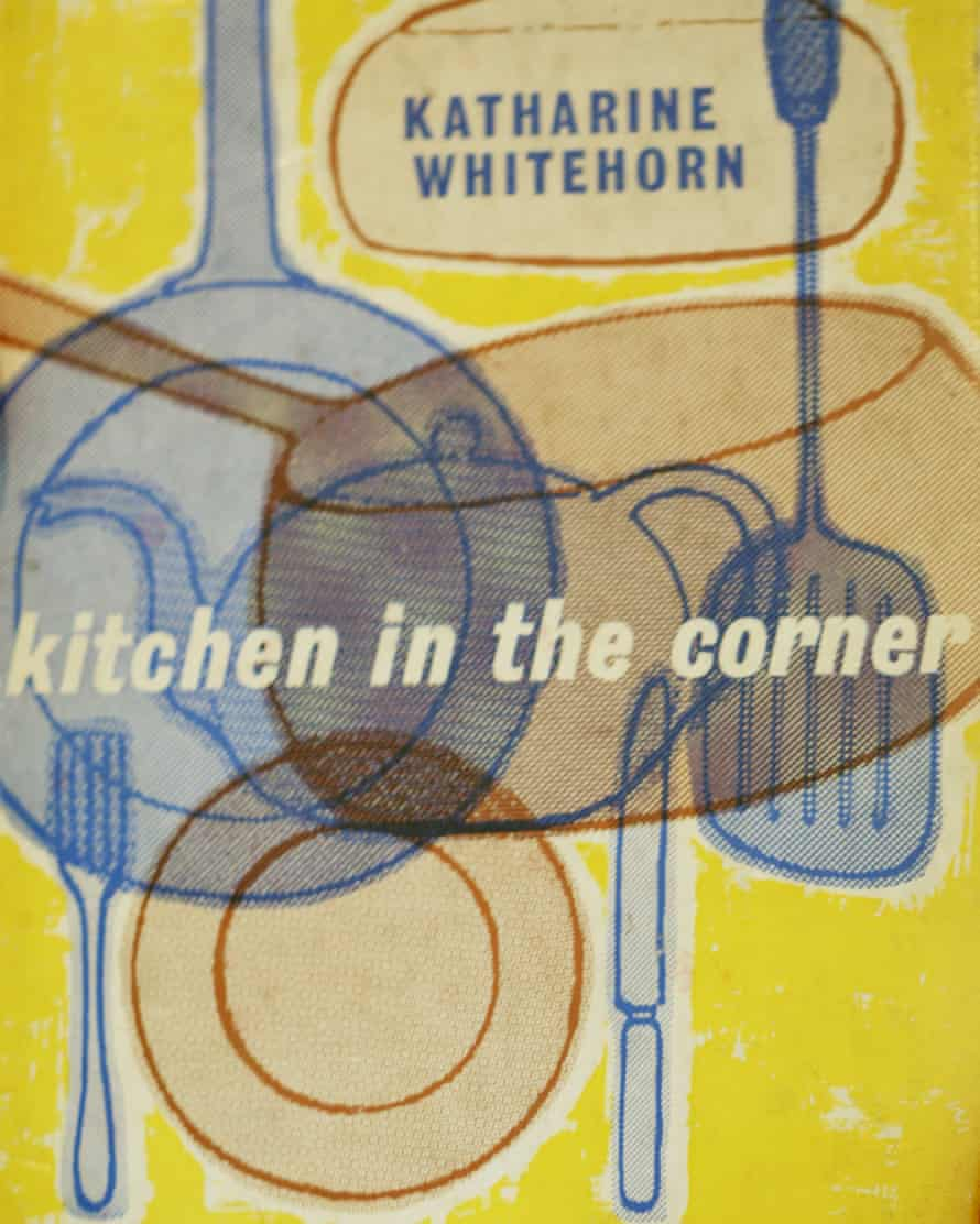 Cover of the original edition of Whitehorn's 1961 book Kitchen in the Corner, in print for 40 years as Cooking in a Bedsitter.
