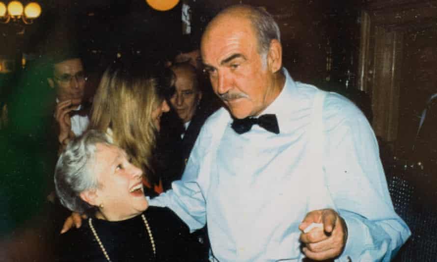 Soho memories: Elena Salvoni, legendary maître d' of Elena's L'Etoile, with Sean Connery.