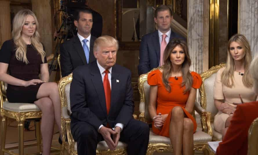 Trump and family