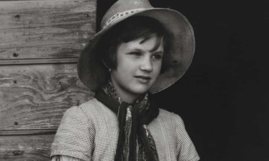 A detail from Farmer's Daughter, Luzzara (1953) by Paul Strand.