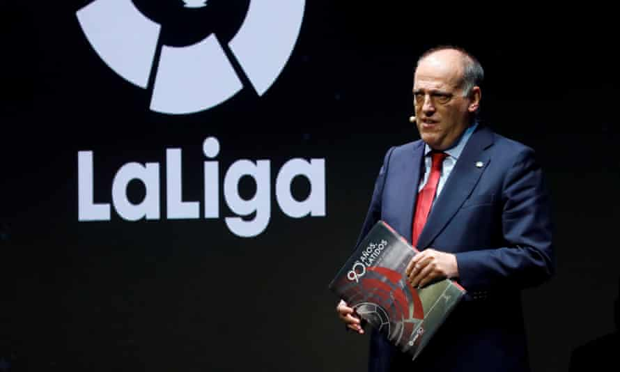 Javier Tebas says he is 'not obsessed' with the Premier League.