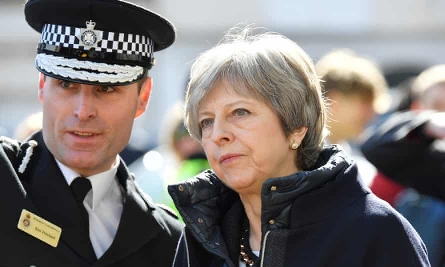 Theresa May visiting  Salisbury where fSergei Skripal and his daughter Yulia were poisoned with a nerve agent.