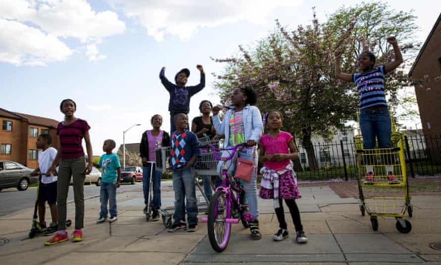 baltimore children protest freddie gray