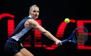 Pliskova defeats Simona Halep: 6-0 2-6 6-4.