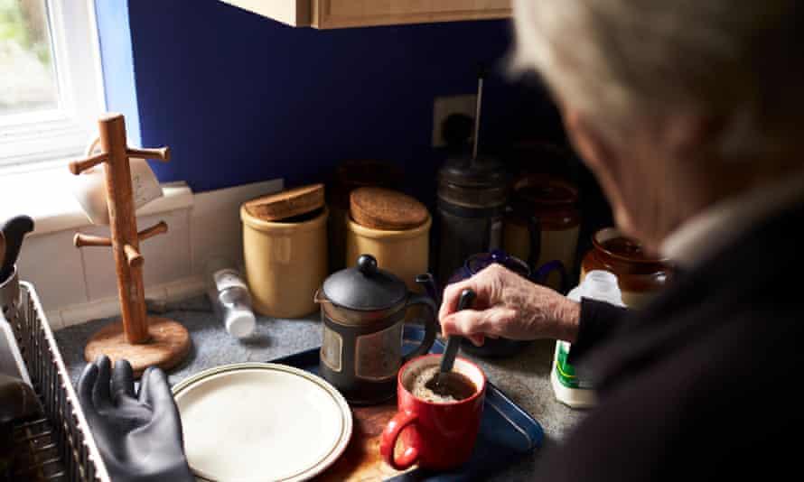 Woman making a coffee