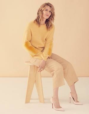 'I love playing characters who lead with their desperation and their rage': Laura Dern wears trousers by Sandro; sweater by Sally La Pointe; shoes by Louboutin; and jewellery by Jennifer Fisher.