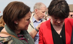 Mary Lou McDonald and Arlene Foster