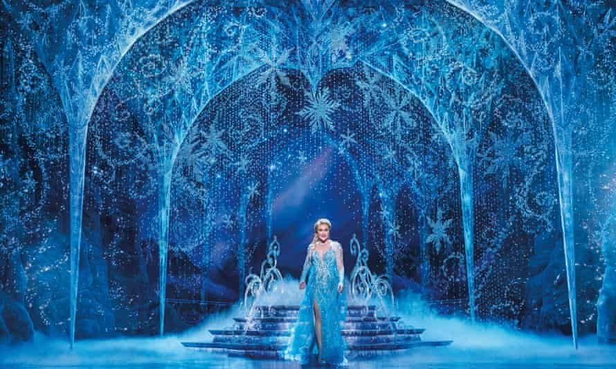 Jemma Rix as Elsa in the Australia version of the live-action stage musical, Frozen.